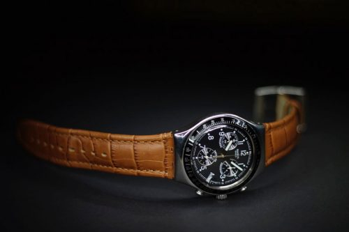 Classic Analog with Brown Leather Strap